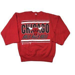 Chicago Bulls Vintage Sweatshirt Size Medium Red M